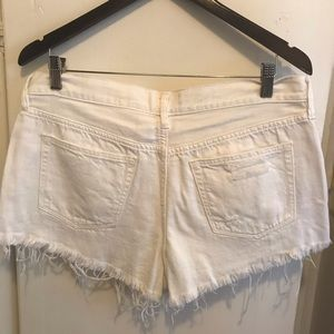 Free People Shorts - Free People White Destroyed Cut off Shorts